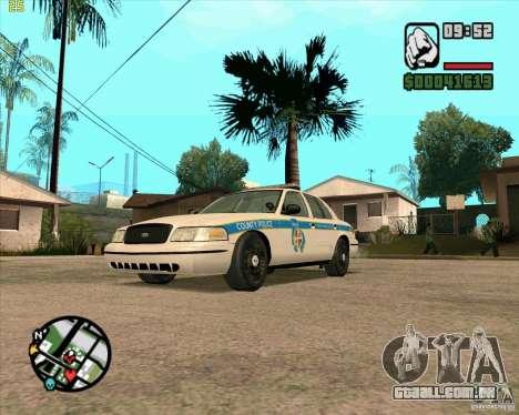 Ford Crown Victoria Baltmore County Police para GTA San Andreas