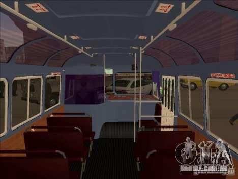 PAZ 672 para GTA San Andreas vista interior