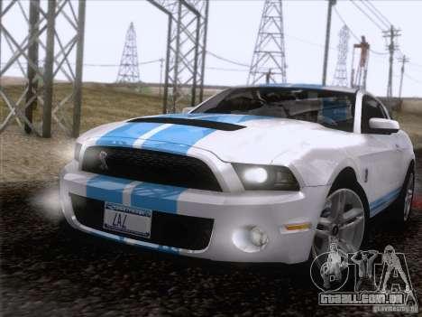 Ford Shelby Mustang GT500 2010 para GTA San Andreas vista inferior