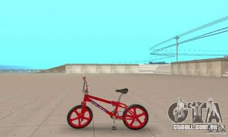 New BMX para GTA San Andreas traseira esquerda vista