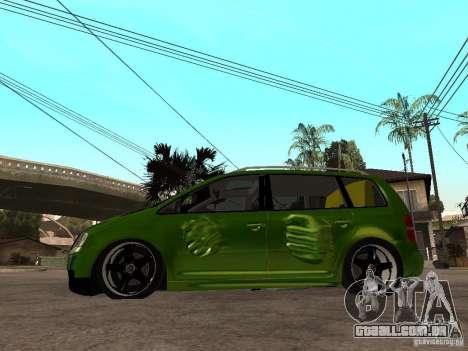 Volkswagen Touran The Hulk para GTA San Andreas esquerda vista