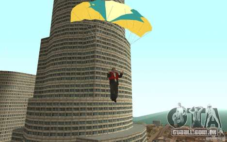 Global fashion parachute para GTA San Andreas quinto tela