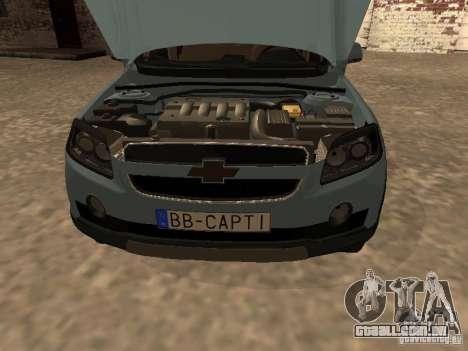 Chevrolet Captiva para GTA San Andreas vista direita