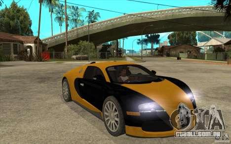 Bugatti Veyron v1.0 para GTA San Andreas vista traseira