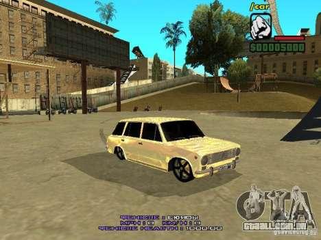 VAZ 2102 ouro para GTA San Andreas esquerda vista