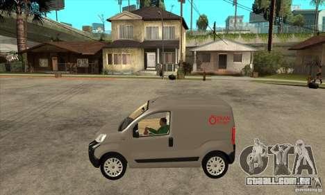 Citroen Nemo 2010 para GTA San Andreas esquerda vista
