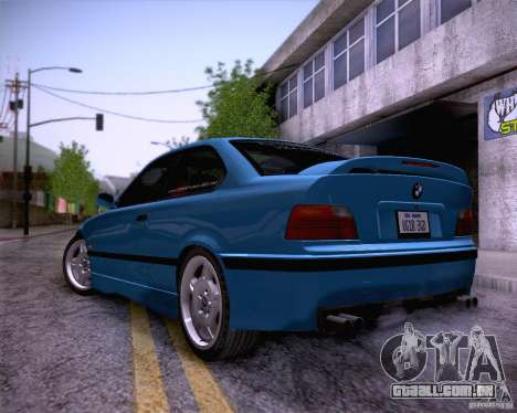 BMW M3 E36 1995 para GTA San Andreas vista inferior