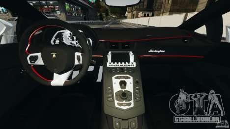 Lamborghini Aventador LP700-4 2012 para GTA 4 vista de volta