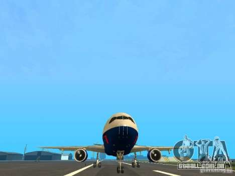 McDonell Douglas DC10 British Airways para GTA San Andreas vista traseira