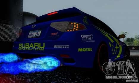 2008 Subaru Impreza Tuneable para as rodas de GTA San Andreas