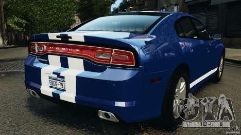 Dodge Charger Unmarked Police 2012 [ELS] para GTA 4 traseira esquerda vista