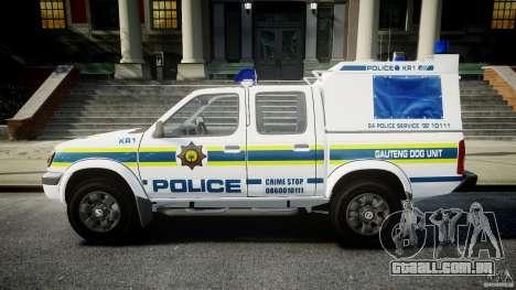 Nissan Frontier Essex Police Unit para GTA 4 esquerda vista