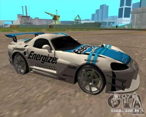 Dodge Viper Energizer para GTA San Andreas esquerda vista