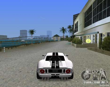 Ford GT para GTA Vice City vista traseira esquerda
