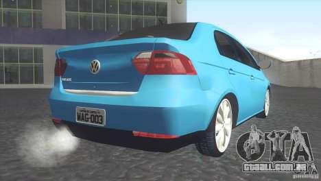 Volkswagen Voyage G6 2013 para GTA San Andreas esquerda vista