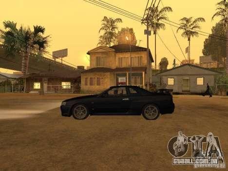 Nissan Skyline R34 Police para GTA San Andreas
