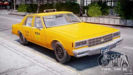 Chevrolet Impala Taxi 1983 para GTA 4 esquerda vista