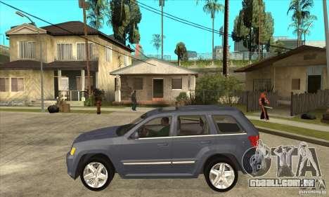 Jeep Grand Cherokee SRT8 v2.0 para GTA San Andreas esquerda vista