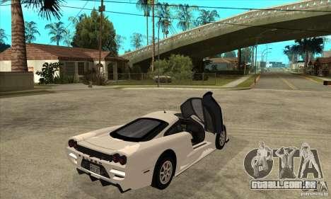 Saleen S7 Twin Turbo para GTA San Andreas vista direita