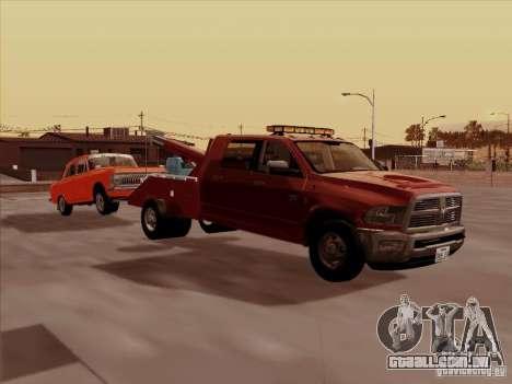 Dodge Ram 3500 TowTruck 2010 para GTA San Andreas traseira esquerda vista