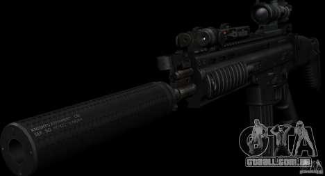 SCAR-L black para GTA San Andreas segunda tela