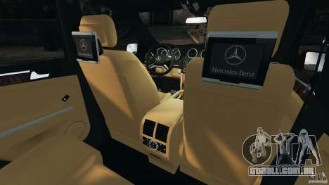 Mercedes-Benz ML63 (AMG) 2009 para GTA 4 vista lateral