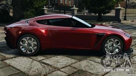 Aston Martin V12 Zagato 2011 v1.0 para GTA 4 esquerda vista