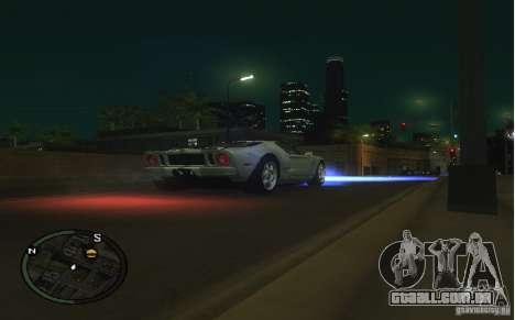 Xenon v4 para GTA San Andreas segunda tela