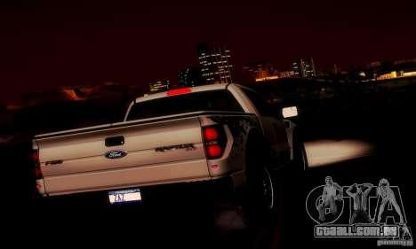 Ford F-150 SVT Raptor V1.0 para GTA San Andreas interior