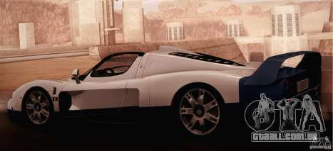 Maserati MC12 V1.0 para GTA San Andreas vista interior