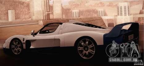 Maserati MC12 V1.0 para GTA San Andreas vista interior