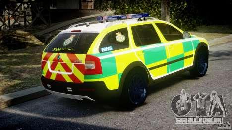 Skoda Octavia Scout Paramedic [ELS] para GTA 4 vista interior