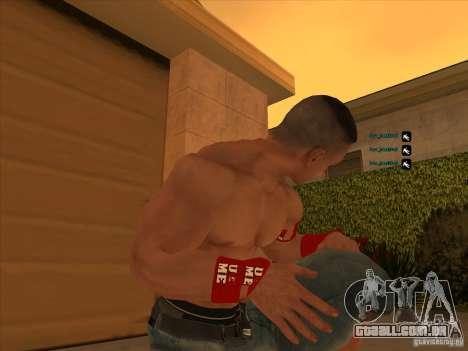John Cena para GTA San Andreas por diante tela