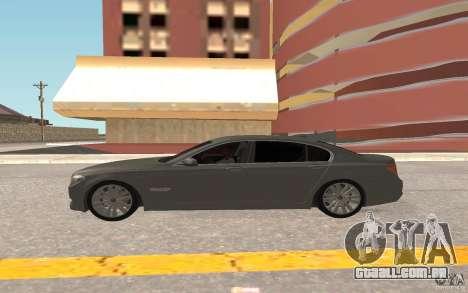 BMW 730d para GTA San Andreas vista traseira