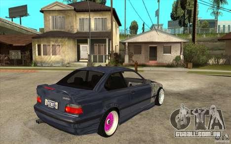 BMW E36 M3 Street Drift Edition para GTA San Andreas vista direita