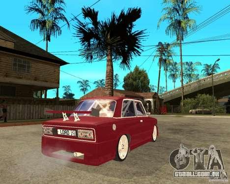 Senhor VAZ 2106 para GTA San Andreas traseira esquerda vista