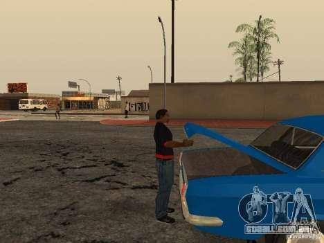 Abra o porta-malas e capô manualmente para GTA San Andreas por diante tela