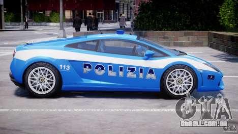 Lamborghini Gallardo LP560-4 Polizia para GTA 4 vista inferior