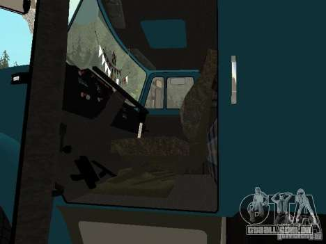 ZIL 133 para GTA San Andreas vista interior