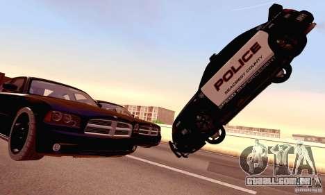 Dodge Charger Fast Five para GTA San Andreas vista inferior