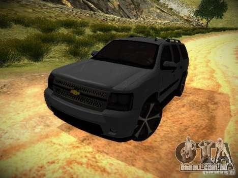 Chevrolet Tahoe HD Rimz para GTA San Andreas traseira esquerda vista