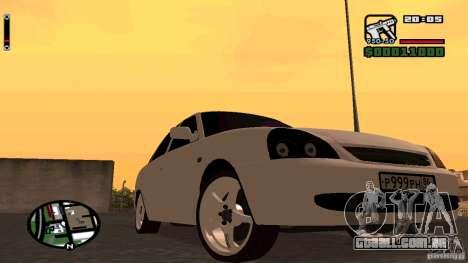Lada Priora Tuning para GTA San Andreas esquerda vista