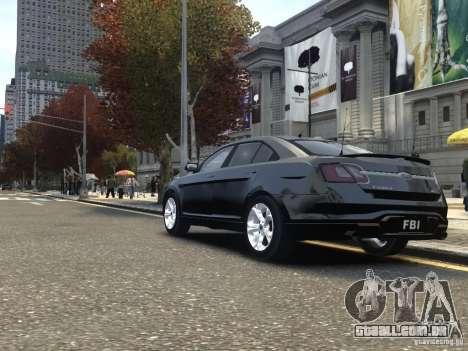 Ford Taurus FBI 2012 para GTA 4 traseira esquerda vista