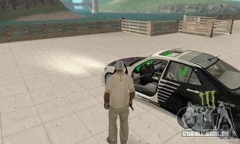 Lexus IS300 Drift Style para GTA San Andreas vista traseira