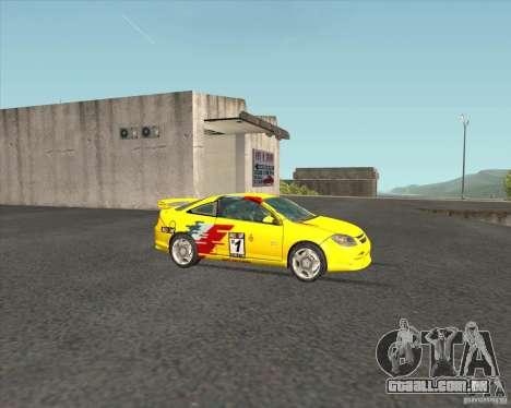 Chevrolet Cobalt SS para GTA San Andreas vista interior