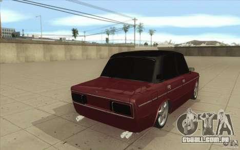 Lada VAZ 2106 para vista lateral GTA San Andreas