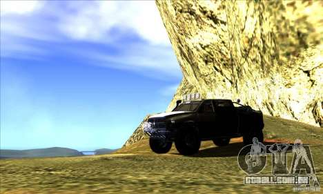 Dodge Ram All Terrain Carryer para GTA San Andreas vista superior