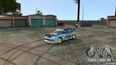 Subaru Impreza WRX STI Rallycross KMC Wheels para GTA 4