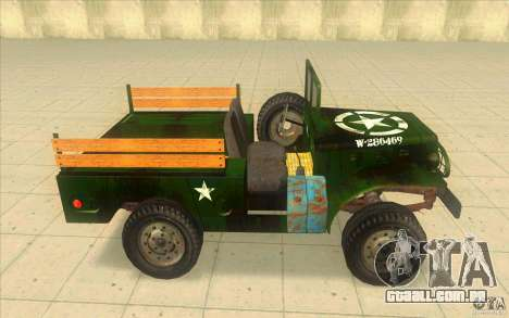Dodge WC51 1944 para GTA San Andreas esquerda vista
