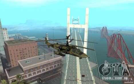 Ka-52 Alligator para GTA San Andreas vista direita